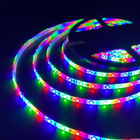 Светодиодная лента 12В 4,8Вт/м 60 Led/м 2835 IP65, RGB, 5 м Elektrostandard 2835 12V 60Led 4,8W IP65 RGB