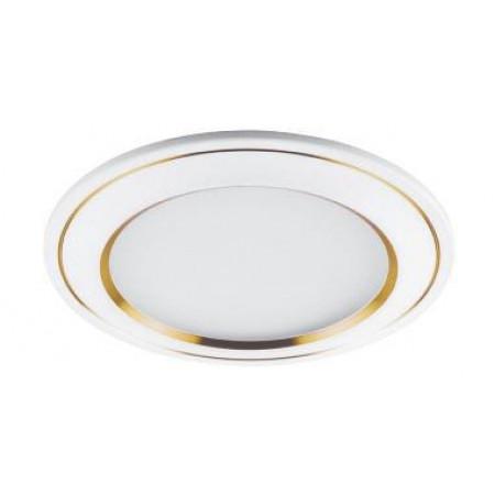 Светодиодный светильник Feron AL650 встраиваемый 7W 4000K белый с золотом