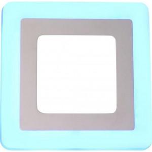 Панель светодиодная 12W+6W с синей подсветкой VP0035 квадрат