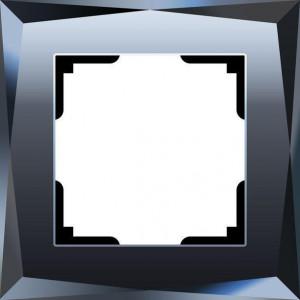 Рамка на 1 пост diamant стекло